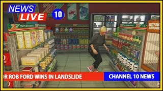 getlinkyoutube.com-GTA 5 ONLINE NEWS - MASSIVE TORNADO IN LOS SANTOS (GTA 5 Funny Moments Mods)