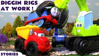 getlinkyoutube.com-Play Doh Diggin Rigs Rescue Thomas and Friends Toy Trains from Accidents and Fun Pranks ToyTrains4u