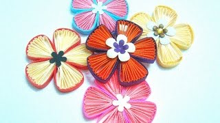 getlinkyoutube.com-Quilling fan flower tutorial