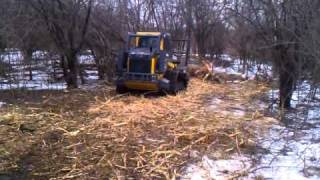 getlinkyoutube.com-John Deere 333D compact track loader with Fecon head