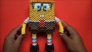 getlinkyoutube.com-Origami 3D Bob esponja