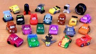 getlinkyoutube.com-Cars 2 Squinkies Rip Clutchgoneski Disney J. Curby Gremlin Pixar Siddley Micro Mini toys review
