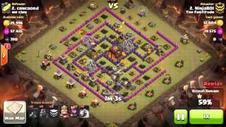 getlinkyoutube.com-clan wars  th9 vs th10 penta lava 3 stars no heroes