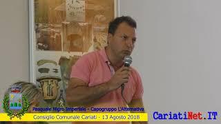 Consiglio Comunale Cariati 13 agosto 2018   PASQUALE NIGRO IMPERIALE