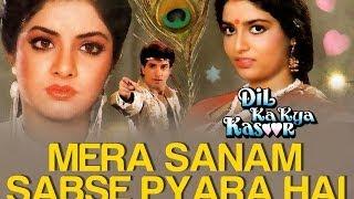 getlinkyoutube.com-Mera Sanam Sabse Pyara Hai - Dil Ka Kya Kasoor | Divya Bharti & Prithvi | Asha Bhosle & Kumar Sanu