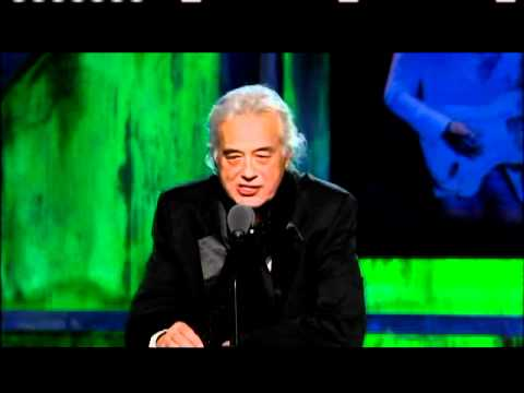 Jimmy Page inducts Jeff Beck at the Rock and Roll Hall of Fame Induction Ceremony 2009