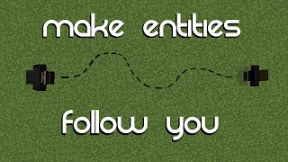 getlinkyoutube.com-Minecraft: Make Entities Follow You