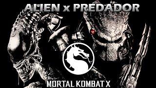 getlinkyoutube.com-Mortal Kombat X: ALIEN vs PREDADOR (Levei Strike no canal)