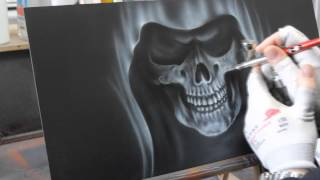 getlinkyoutube.com-Airbrush Videoanleitung Sensenmann in Flammen - Grim Reaper in Flames Paint Howto Tutorial