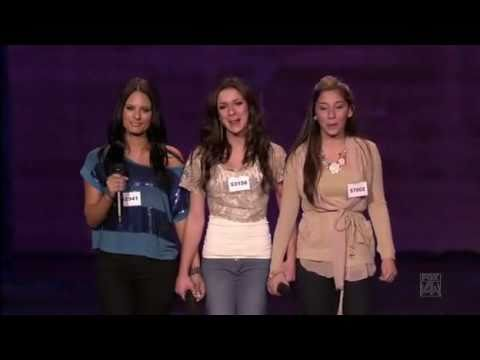 American Idol 10 - Pia Toscano, Alessandra Guercio & Brielle Von Hugel - Hollywood Group Round
