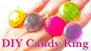 getlinkyoutube.com-UVレジン 指輪キャンディ作り方 DIY UV Resin Candy Ring