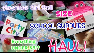 AG Size School Supplies HAUL! * Everything Under $5?!*