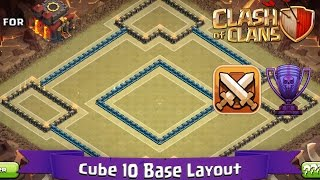 getlinkyoutube.com-Clash Of Clans: TH10 | BEST Clan War / Trophy Base Layout (with Defence Replays) - Cube 10
