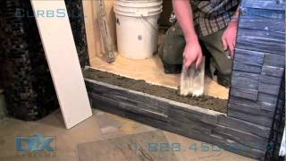 getlinkyoutube.com-Shower Curb Sill Install. Dix Systems OneLiner How-To
