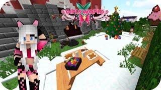DECORACIÓN NAVIDEÑA en mi CASA!!! -  Girl's World Minecraft Ep 51