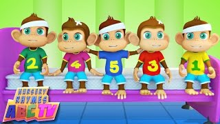 getlinkyoutube.com-Five Little Monkeys | Kids Songs | Infant Rhymes