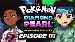 NICK FOUND A SHINY?! - Pokémon Diamond & Pearl Randomizer Nuzlocke VERSUS w/ Sacred! Episode #01