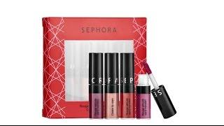 getlinkyoutube.com-Sephora Collection Mini Cream Lip Stain Set | Unboxing & Swatches