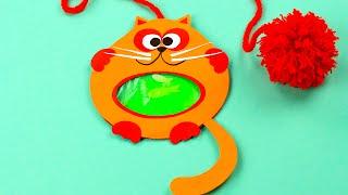 getlinkyoutube.com-Закладка для книг - кот-рыболов своими руками