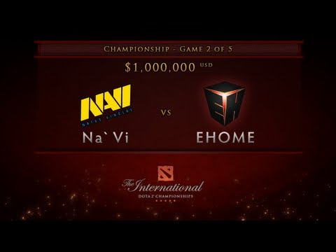 Dota 2 International - Championship Finals - EHOME vs NaVi Game 2 - English Commentary