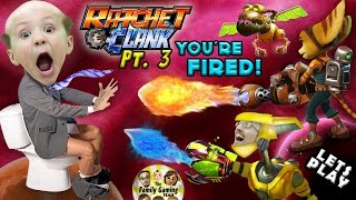 getlinkyoutube.com-CHASE IS BOSS, YOU'RE FIRED!  Lets Play RATCHET & CLANK #3: FGTEEV Duddy's New PYROCITOR Weapon!