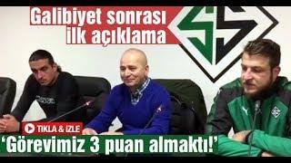 Sakaryaspor'dan maç sonrası açıklamalar
