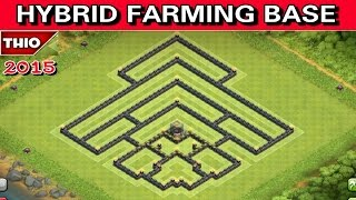 getlinkyoutube.com-Town Hall 10 *NEW* (Hybrid Farming Base 2015) - Protect Townhall/Storages + Speed Build