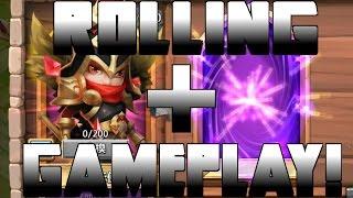 getlinkyoutube.com-Castle Clash Rolling For Michael + Gameplay | NEW HERO