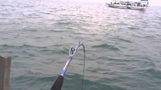getlinkyoutube.com-太刀魚釣り  船でテンビン、メーター級
