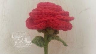 getlinkyoutube.com-Tutorial Rosa Crochet o Ganchillo Flor
