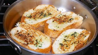 getlinkyoutube.com-Garlic Bread without Oven Recipe