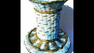 getlinkyoutube.com-═► How to weave oval bottom of the basket