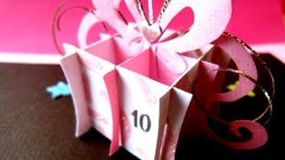 getlinkyoutube.com-Birthday Present, Gift Box Pop Up Card . ♡ ☆