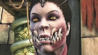 getlinkyoutube.com-MORTAL KOMBAT X Mileena Vampiress Gameplay Fatalities Brutalities Skin DLC (Fatality Brutality)