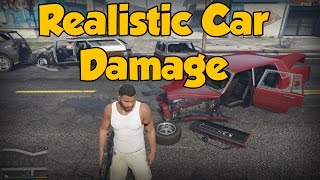 Gta 5 - Realistic Car Damage Mod Showcase