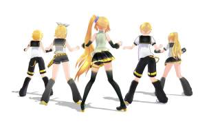 getlinkyoutube.com-MMD - Love and Joy -  Neru Akita|Rin|Len|Rinto|Lenka