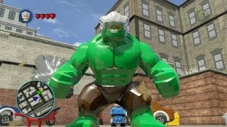 getlinkyoutube.com-LEGO Marvel Super Heroes (PS4) - Stan Lee / Excelsior Hulk Free Roam Gameplay