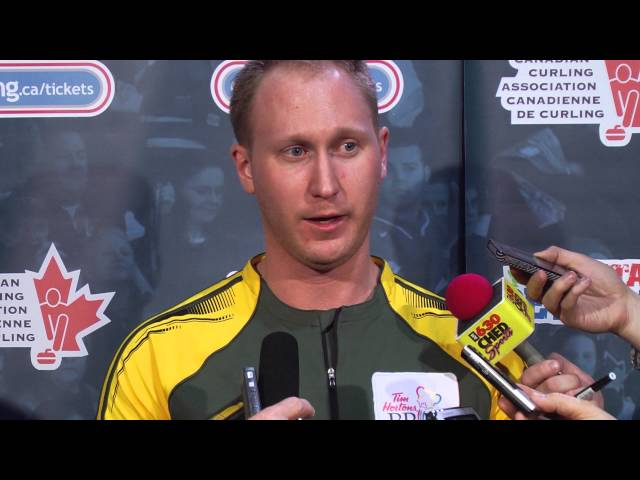 Playoff 3 vs 4 Media Scrum - 2013 Tim Hortons Brier