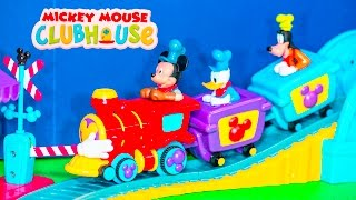 getlinkyoutube.com-MICKEY MOUSE Disney Mickey Mouse Clubhouse Train Track Mickey Mouse Video Toys Unboxing