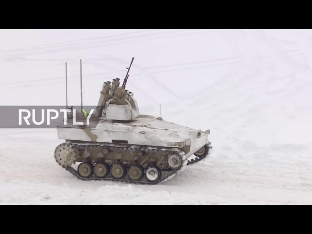 Russland präsentiert neuen Kampfroboter