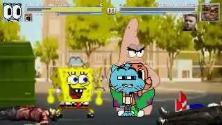 getlinkyoutube.com-AN Mugen Request #161: Gumball, Darwin, Spongebob & Patrick VS Freddy, Myers, Jason & Sonic.exe