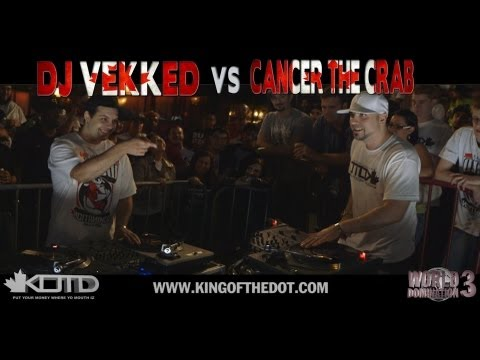 KOTD - Dj Battle - DJ Vekked vs Cancer The Crab (CANADA VS CANADA)