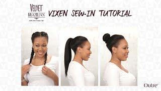 getlinkyoutube.com-Vixen Sew In Tutorial with Velvet Brazilian