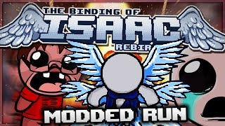 getlinkyoutube.com-The Binding of Isaac: Rebirth - Modded Run: Heaven's Overlord! (Godmode)