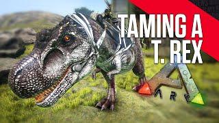 getlinkyoutube.com-ARK: Survival Evolved - Taming a T Rex (LvL 26) under 2 hours!