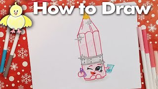 getlinkyoutube.com-How to Draw Shopkins: Penny Pencil - Narrated Step by Step Drawing Lesson