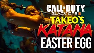 BLACK OPS 3 ZOMBIES: HOW TO GET TAKEO'S SWORD EASTER EGG! (SECRET KATANA WEAPON) IN THE GIANT!