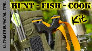 "DIY - Survival / Bug Out - Hunting Fishing Cooking Kit - SERE Sling Bow / SlingShot - ""First Look"""