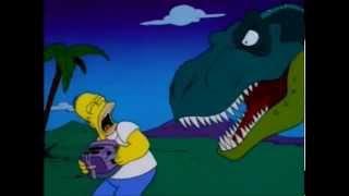 Homer Simpson kills the Dinosaurs