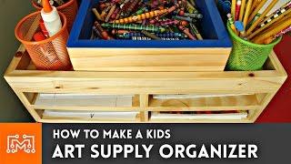 getlinkyoutube.com-How to make an art supply organizer // Woodworking